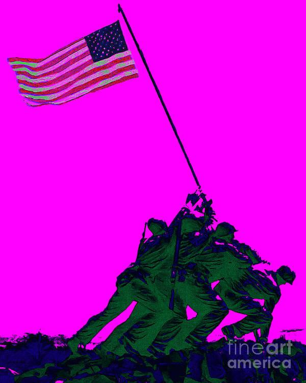 Iwo Jima Art Print featuring the photograph Iwo Jima 20130210 by Wingsdomain Art and Photography