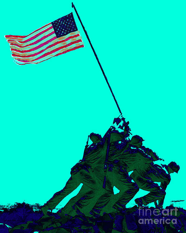 Iwo Jima Art Print featuring the photograph Iwo Jima 20130210m128 by Wingsdomain Art and Photography