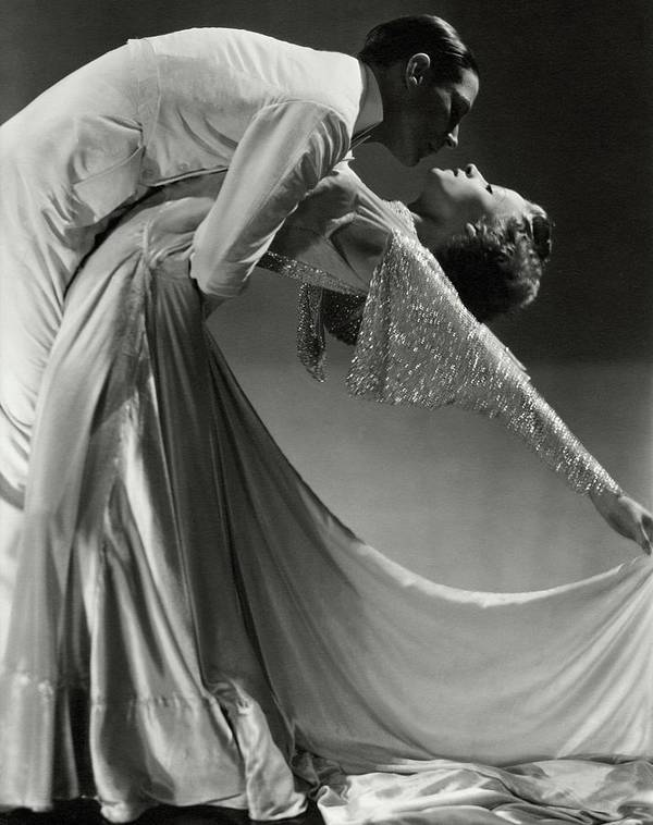 Dance Art Print featuring the photograph Jack Holland And June Hart Dancing by Horst P. Horst