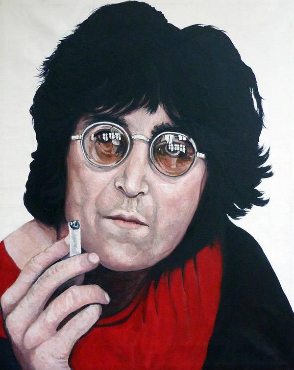 John Lennon Art Print featuring the painting John Lennon by Tom Roderick