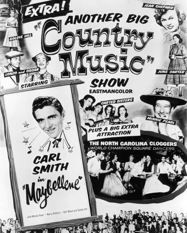 June Carter Cash Art Print featuring the photograph June Carter Cash by Silver Screen