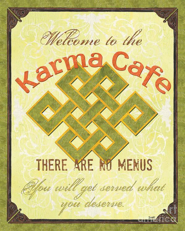 Karma Art Print featuring the painting Karma Cafe by Debbie DeWitt