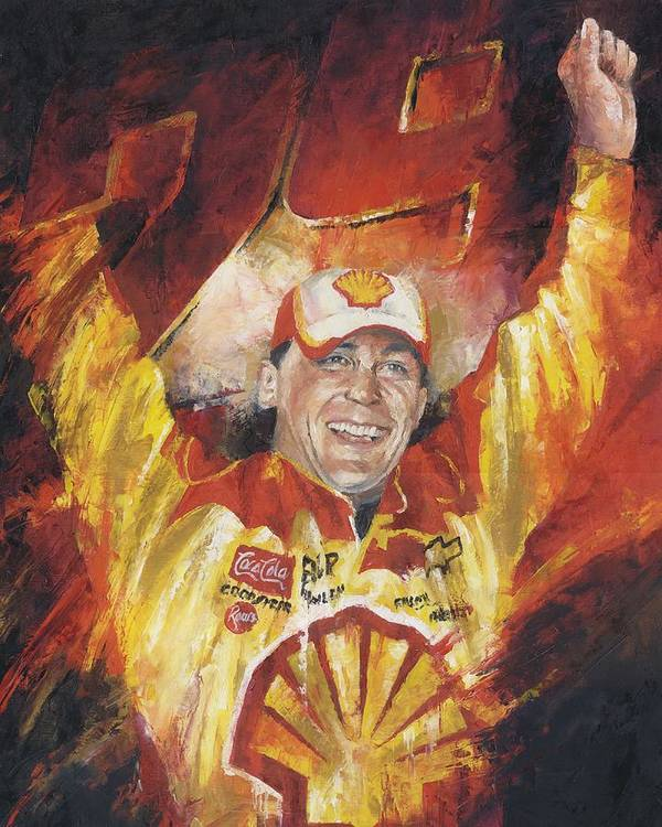 Nascar Art Print featuring the painting Kevin Harvick by Christiaan Bekker
