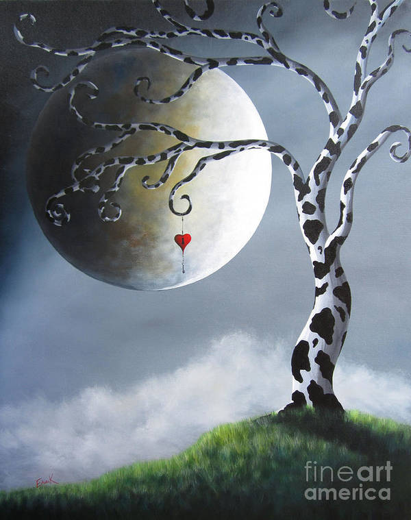 Surreal Art Print featuring the painting Key To My Imagination By Shawna Erback by Shawna Erback