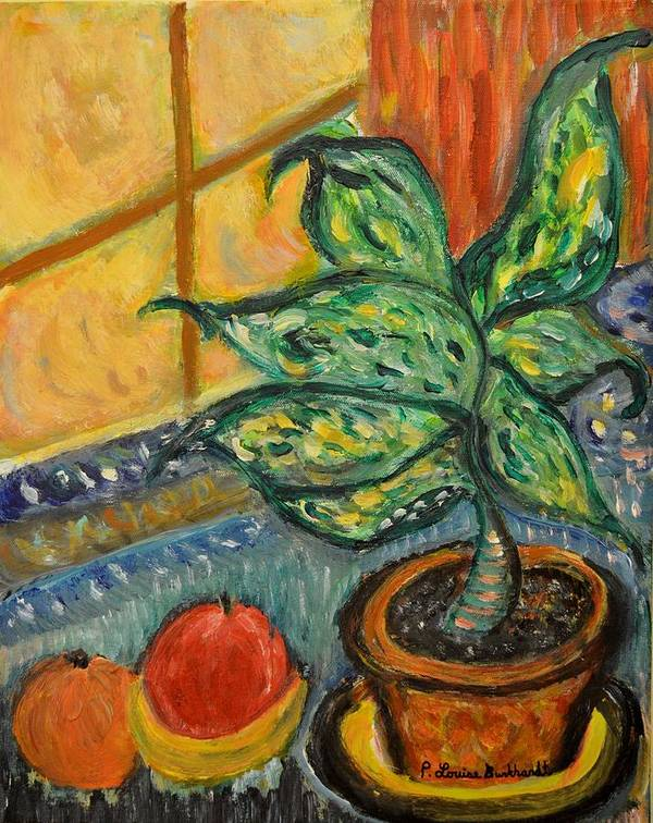 Plant Art Print featuring the painting Kitchen Company by Louise Burkhardt