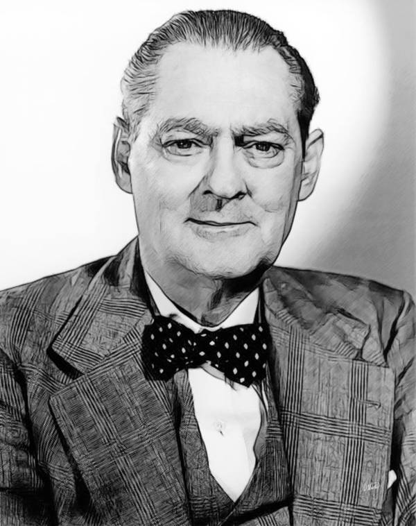 Celebrity Art Print featuring the drawing Lionel Barrymore 003 by Dean Wittle