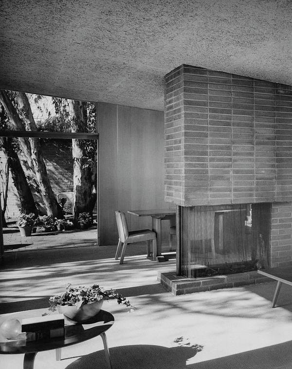 Architecture Art Print featuring the photograph Living-dining Room By Carl Louis Maston by Julius Shulman