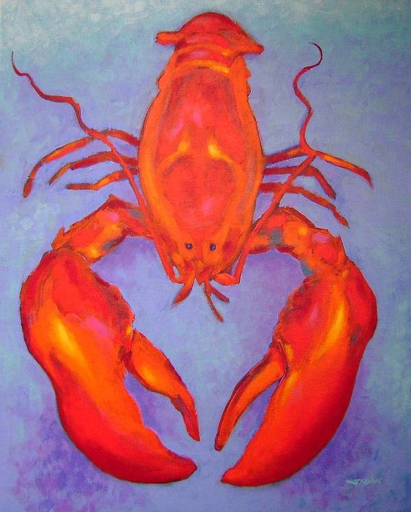 Lobster Art Print featuring the painting Lobster by John Nolan