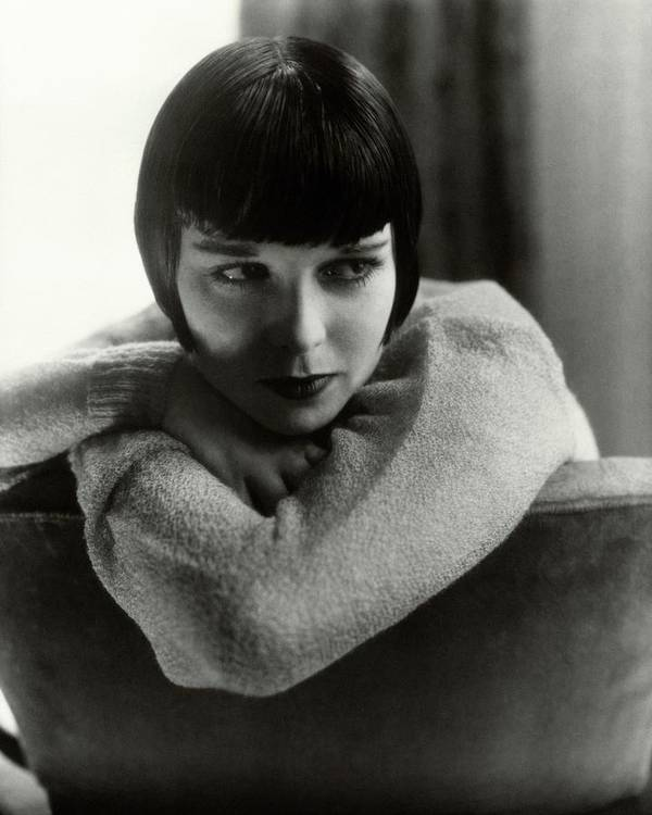 Actress Art Print featuring the photograph Louise Brooks On A Chair by Edward Steichen