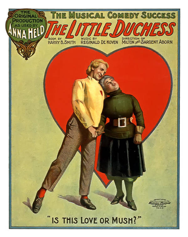 Vintage Poster Art Print featuring the mixed media Love Or Mush by Terry Reynoldson
