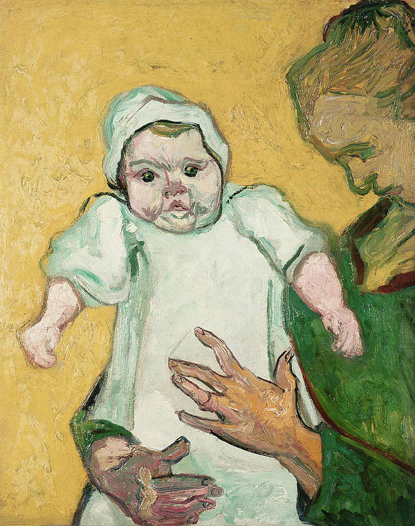 Child Print featuring the painting Madame Roulin And Her Baby by Vincent Van Gogh
