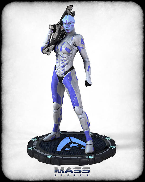 Mass Effect Art Print featuring the digital art Mass Effect - Asari Alliance Soldier by Frederico Borges