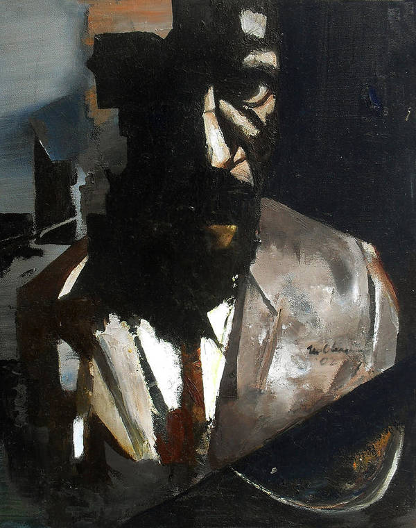 Thelonious Monk Jazz Piano Portrait Art Print featuring the painting Monk by Martel Chapman
