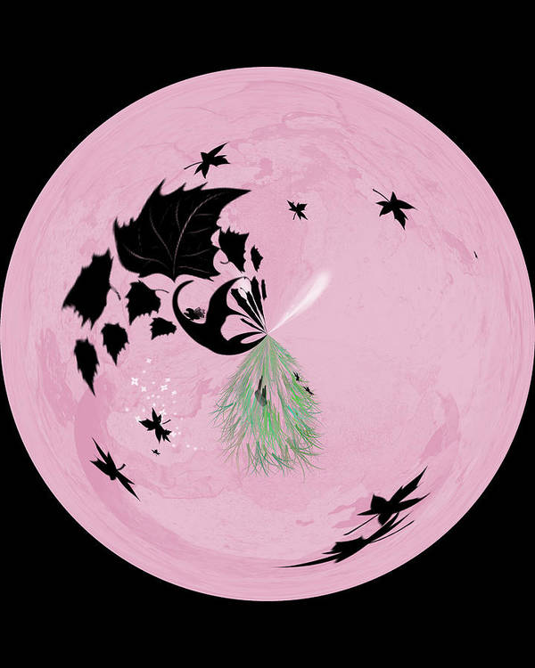 Digital Art Print featuring the digital art Morphed Art Globe 10 by Rhonda Barrett