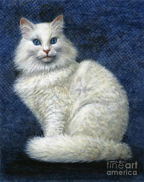 Cat Art Print featuring the painting Mrs. Moon by Jane Bucci