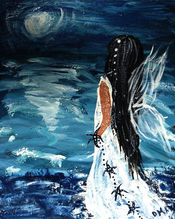 Angel Art Print featuring the painting My Prayers by Debbie May