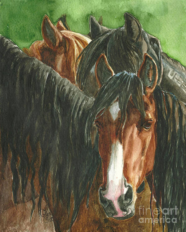 Art Print featuring the painting New Beginnings by Linda L Martin