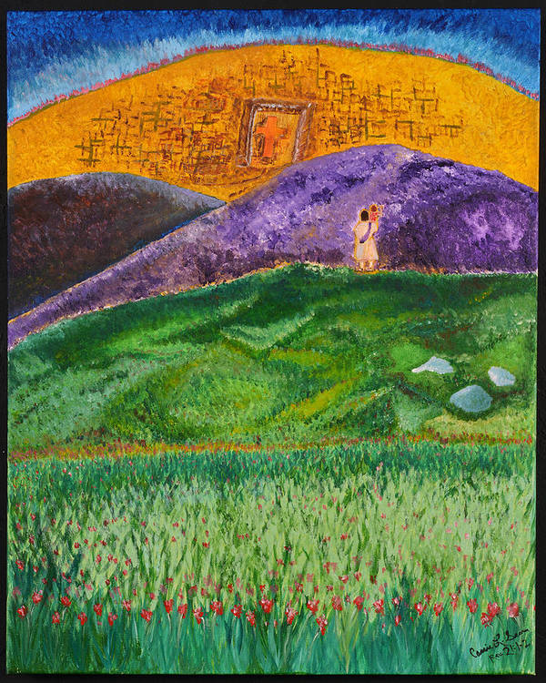 Art-by-cassie Sears Art Print featuring the painting New Jerusalem by Cassie Sears
