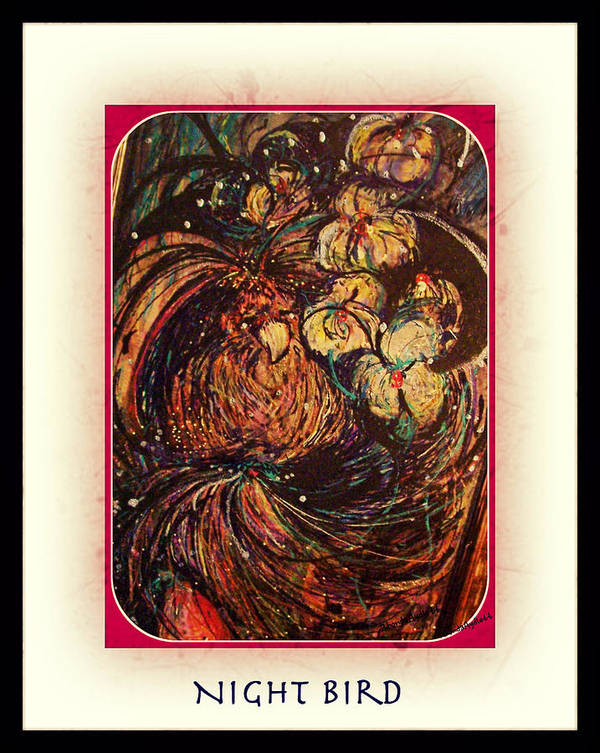 Bird Art Print featuring the mixed media Night Bird by YoMamaBird Rhonda