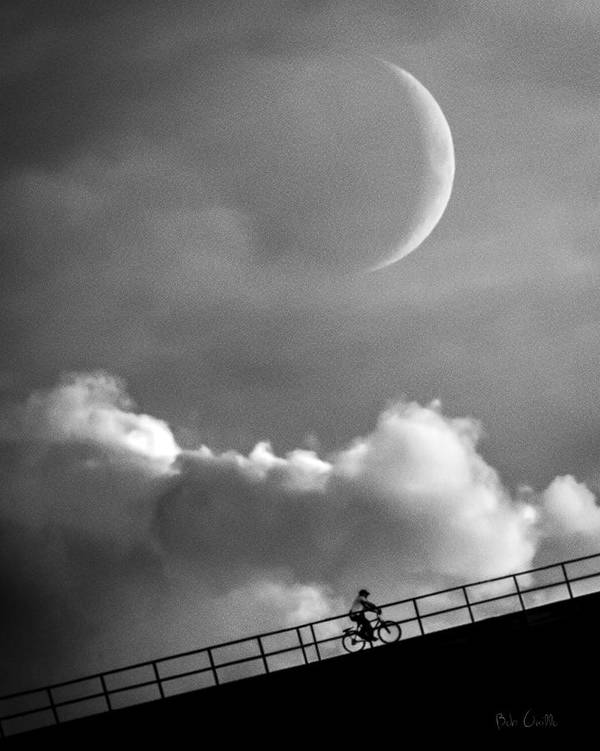 Crescent Moon Print featuring the photograph No Turning Back by Bob Orsillo