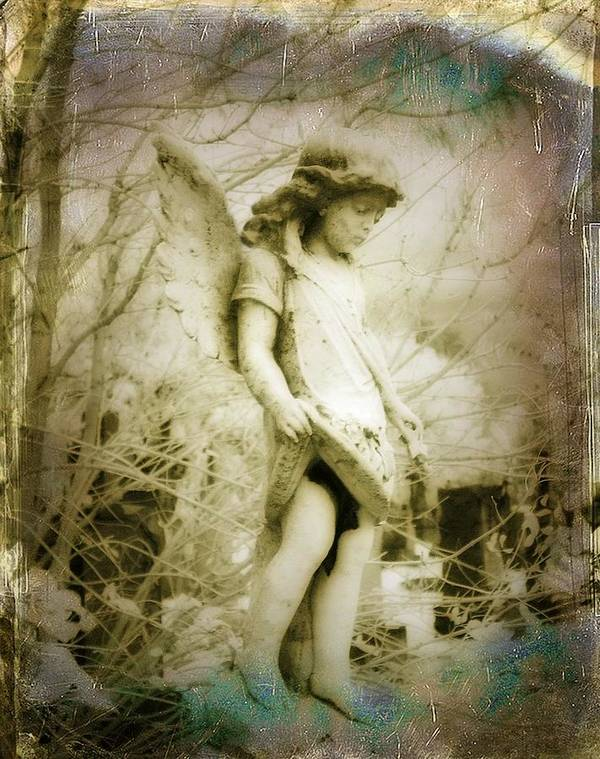 Infrared Angel Art Print featuring the photograph Old World by Gothicrow Images