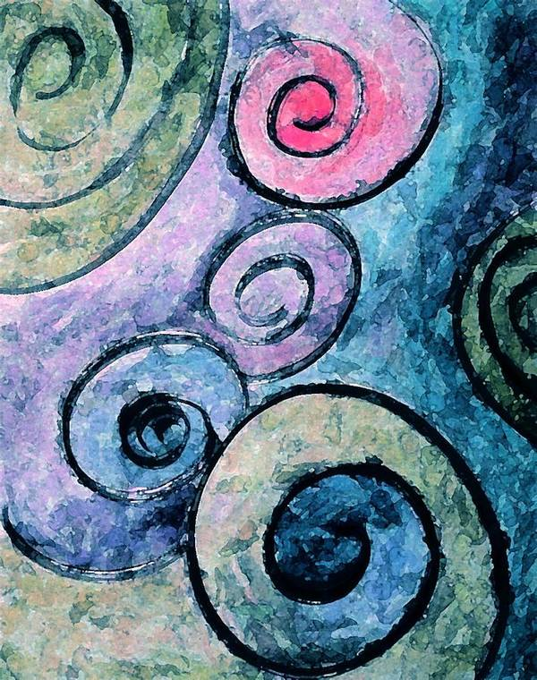 Abstract Art Print featuring the painting Perfect by Margie Byrne