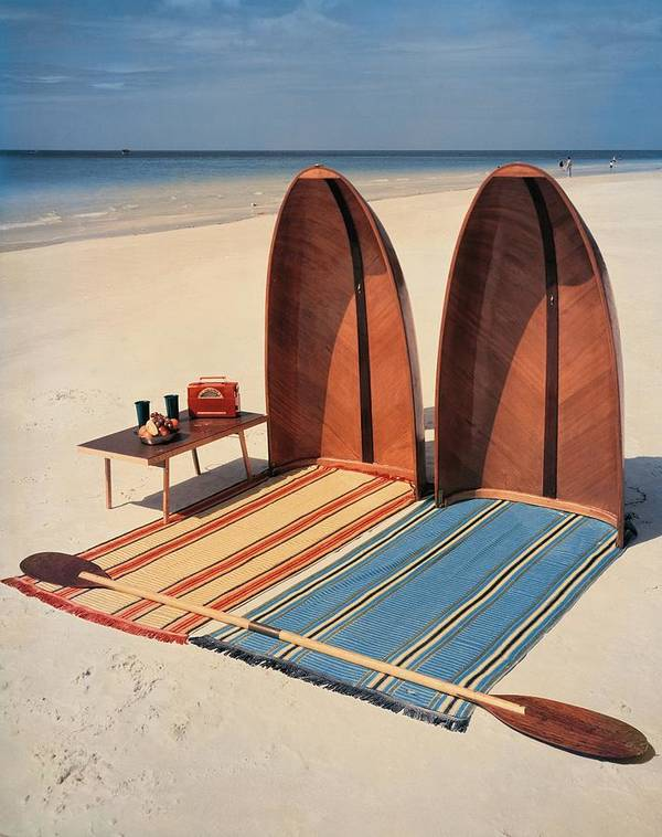 Accessories Art Print featuring the photograph Pixie Collapsible Boat On The Beach by Lois and Joe Steinmetz