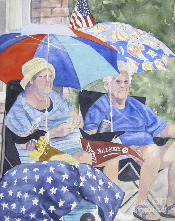 Watercolor Art Print featuring the painting Ready For The Millbury Parade by Carol Flagg