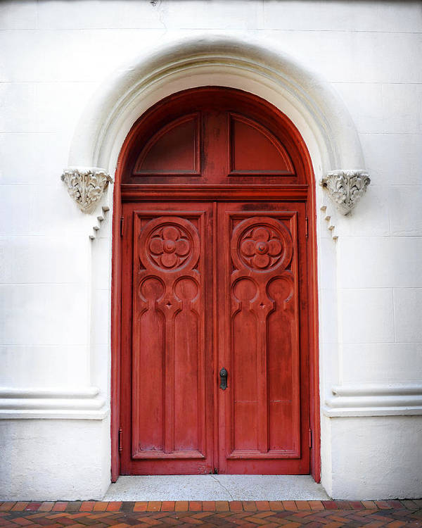 Red Doors Stone : Red door art print by val stone creager
