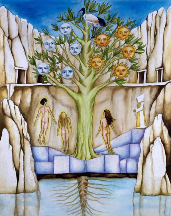 Resurrection Art Print featuring the painting Resurrection Island by Rebecca Barham
