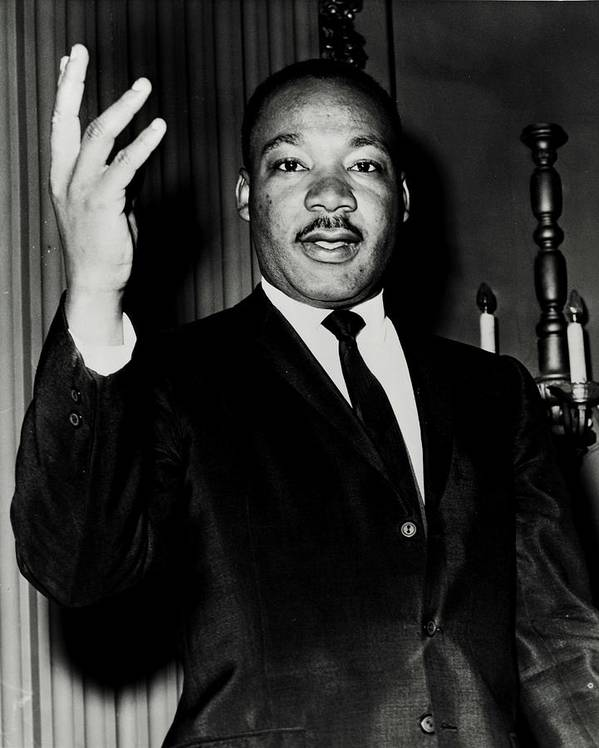 Martin Luther King Print featuring the photograph Reverend King by Benjamin Yeager