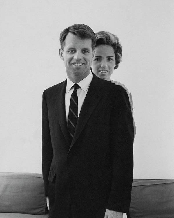 Personality Art Print featuring the photograph Robert F Kennedy And Wife Ethel by Cecil Beaton