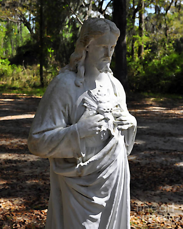 Jesus Art Print featuring the photograph Savior Statue by Al Powell Photography USA