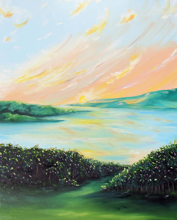 Lake Art Print featuring the painting Seeded Spirit by Meaghan Troup