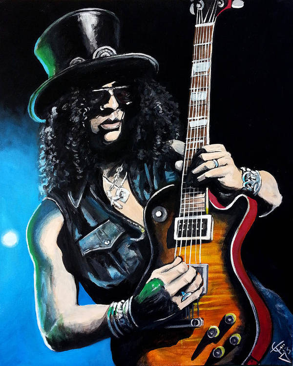 Slash Art Print featuring the painting Slash by Tom Carlton