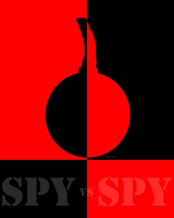 1960 Art Print featuring the digital art Spy Vs Spy by Bob Orsillo