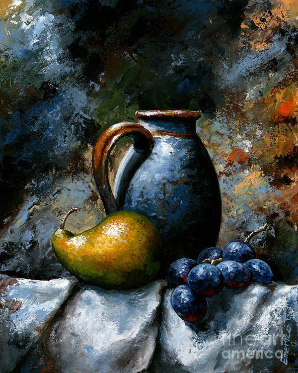 Fruit Painting Art Print featuring the painting Still Life 24 by Emerico Imre Toth
