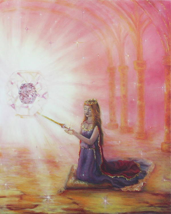 Princess Art Print featuring the painting Such A Time As This by Jeanette Sthamann