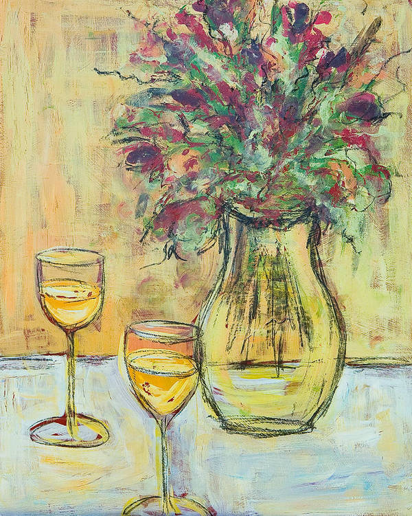 Flowers Art Print featuring the painting Summer Wine by Tracey Marshall