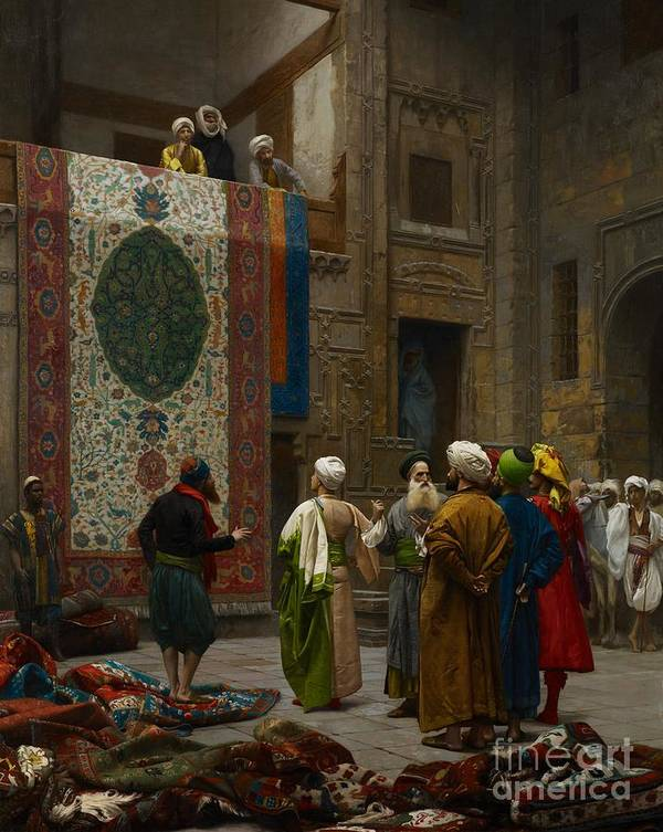 Gerome Art Print featuring the painting The Carpet Merchant by Jean Leon Gerome