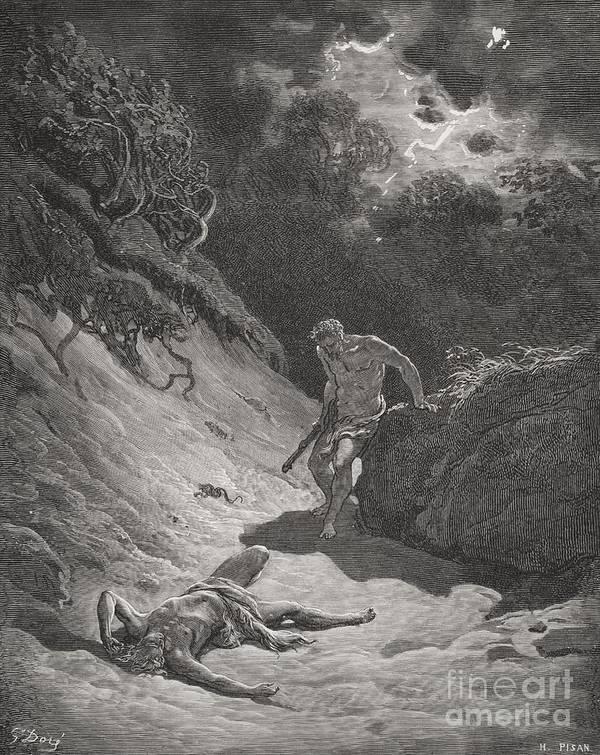 Cain Art Print featuring the painting The Death Of Abel by Gustave Dore