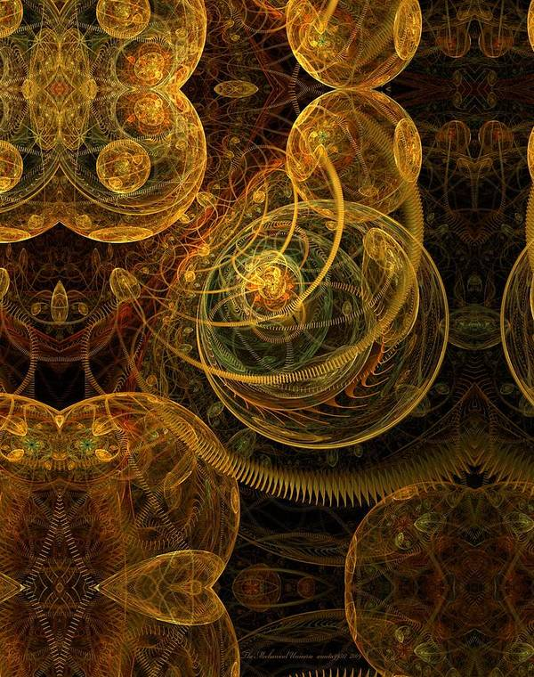 Fractal Art Print featuring the digital art The Mechanical Universe by Gayle Odsather