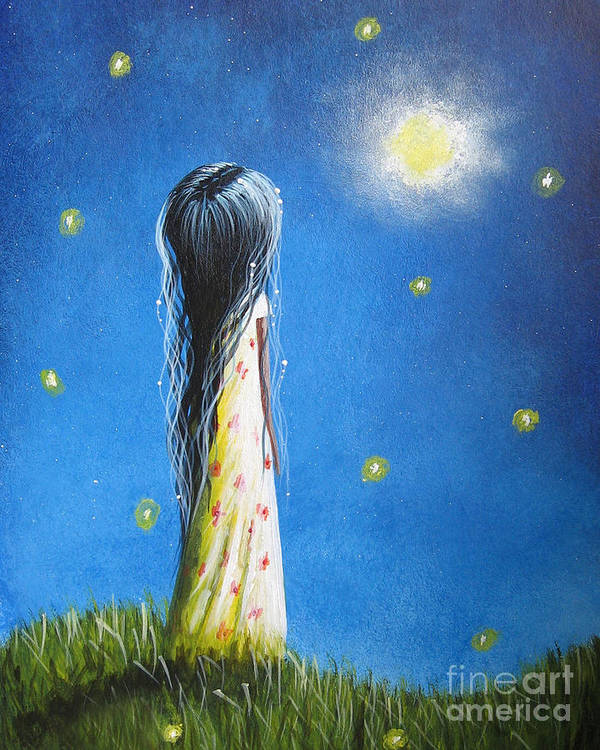 Girlie Art Print featuring the painting The Sound Of Light By Shawna Erback by Artisan Parlour