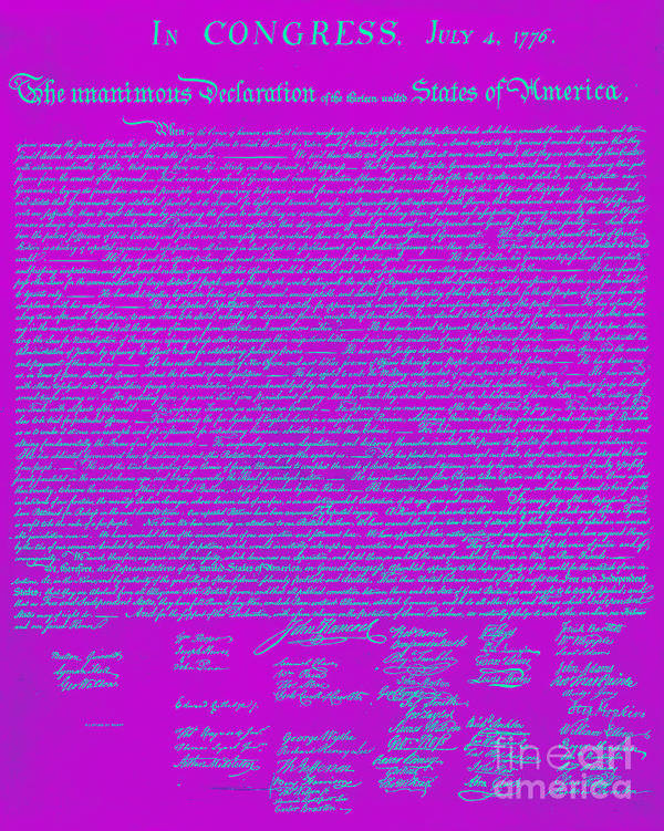 Usa Print featuring the photograph The United States Declaration Of Independence 20130215p168 by Wingsdomain Art and Photography