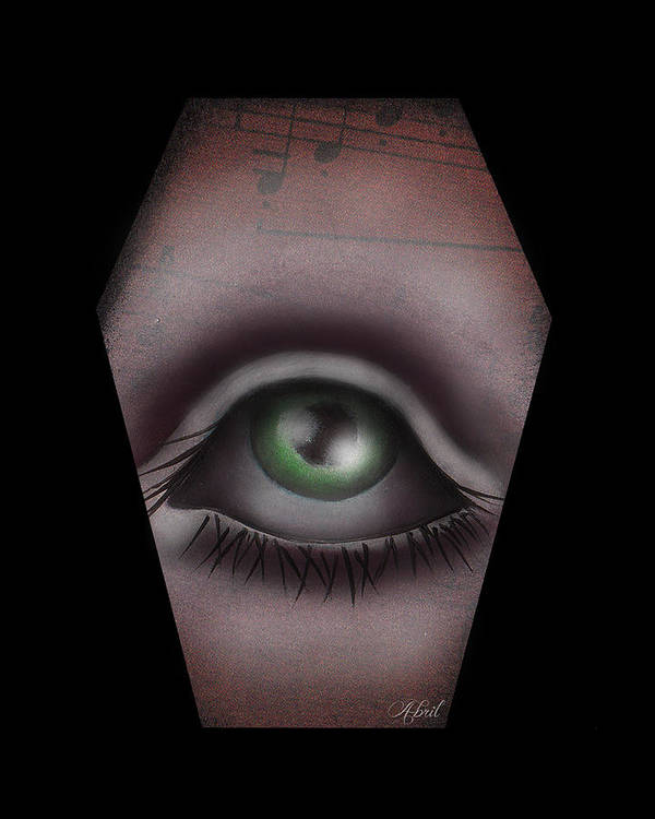 Eye Art Print featuring the painting The Window IIi by Abril Andrade Griffith