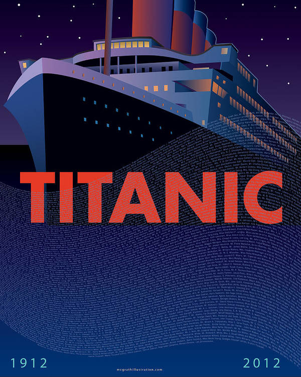 Titanic Art Print featuring the painting Titanic 100 Years Commemorative by Leslie Alfred McGrath