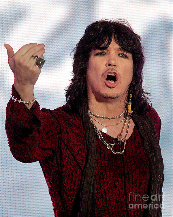 Cinderella_rock_and_roll_concert_photo Art Print featuring the photograph Tom Keifer Of Cinderella by Bruce Crummy