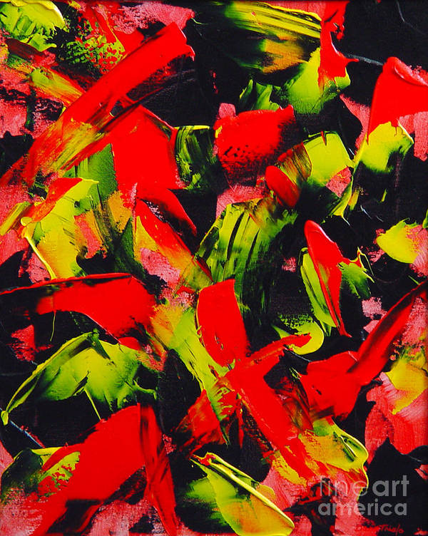 Abstract Art Print featuring the painting Transitions IIi by Dean Triolo