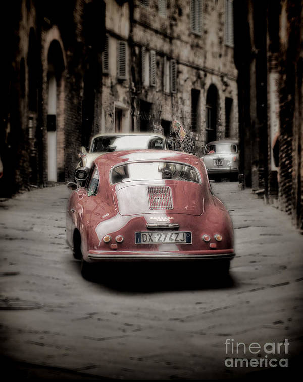 Vintage Print featuring the photograph Vintage Porsche by Karen Lewis