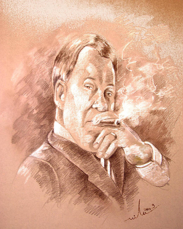 Portrait William Shatner Art Print featuring the painting William Shatner As Denny Crane In Boston Legal by Miki De Goodaboom
